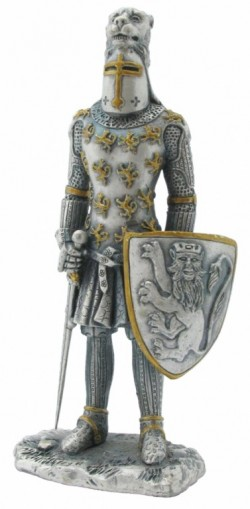 Picture of Knight with Lion Helm Pewter Figurine