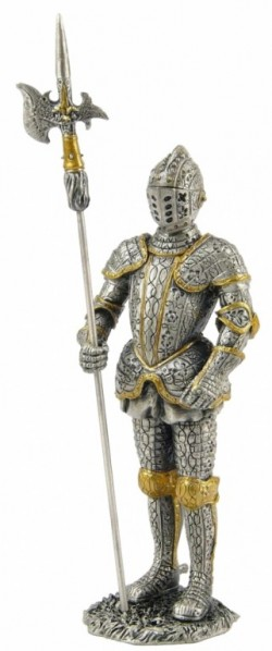 Picture of Knight with Halberd Pewter Figurine
