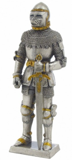 Picture of Knight in Bascinet Helmet Pewter Figurine