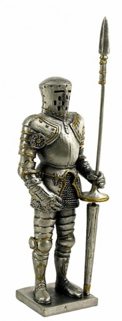Picture of Medieval Knight with Lance Pewter Figurine