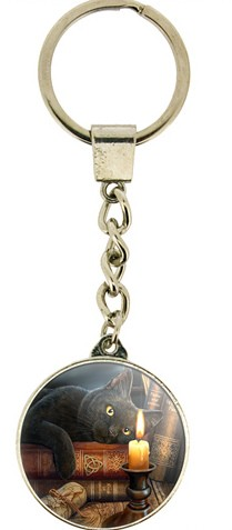 Picture of The Witching Hour Black Cat Crystal Keyring (Lisa Parker)