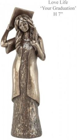 Picture of Graduation Bronze Figurine