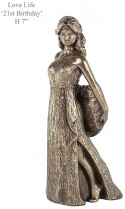 Picture of 21st Birthday Bronze Figurine NEW RELEASE