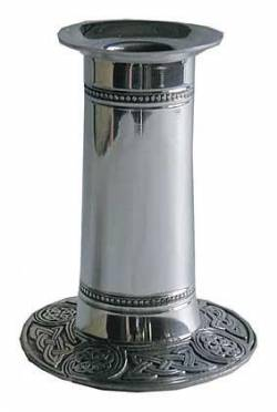Picture of Celtic Pewter Candlestick Holder (Large)