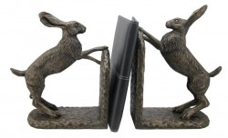 Picture of Bramble and Foxglove Hare Bookends by Harriet Glen