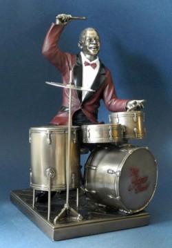Picture of Drummer Jazz Bronze Figurine