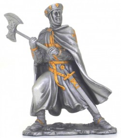 Picture of Crusader with Axe Pewter Figurine NEW