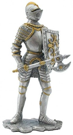 Picture of Knight with Battleaxe circa 1555 Pewter Figurine