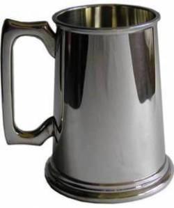 Picture of 2 Pint Quart Pewter Tankard