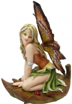 Picture of Sara on Leaf Fairy Figurine