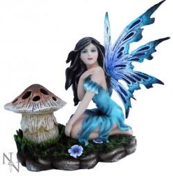 Picture of Luna Blue Fairy Figurine T Light Holder