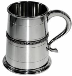 Picture of Single Celtic Band Medium Tankard