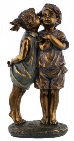 Picture of Girl Kissing Boy Figurine (Juliana)