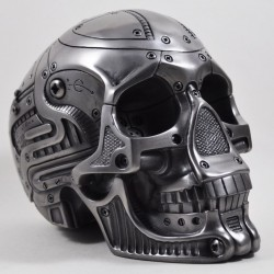 Picture of Heavyweight Robot Skull Silver 2kg