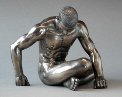 Picture of Strength Nude Male Body Talk Bronze Figurine