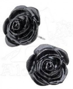 Picture of Black Rose Studs (Pair)