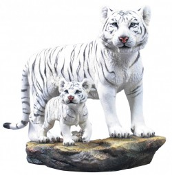 Picture of White Tiger and Cub Large Figurine