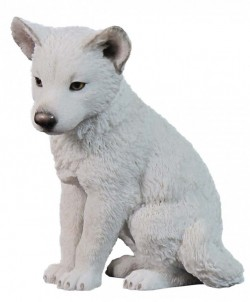 Picture of Arctic Wolf Puppy Figurine