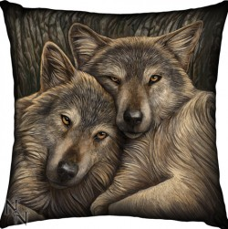 Picture of Loyal Companions Wolf Cushion (Lisa Parker)