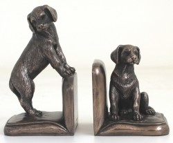 Picture of Puppy Bookend Bronze Sculptures