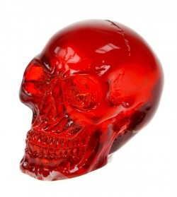 Picture of Red Solid Clear Resin Skull (Small)