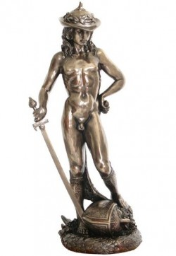 Picture of David Bronze Figurine Donatello
