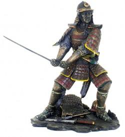 Picture of Samurai Attacking Bronze Figurine
