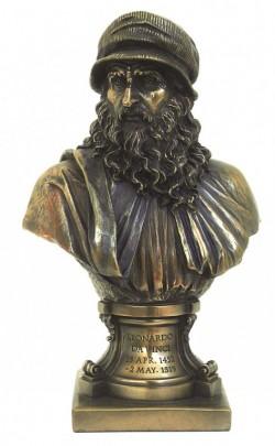 Picture of Leonardo da Vinci Bronze Figurine Bust