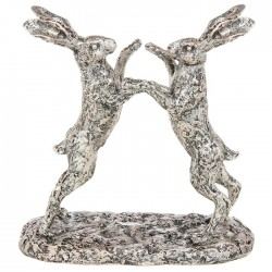 Picture of Champagne Bronze Boxing Hares