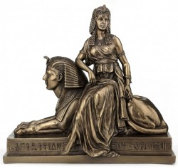 Picture of Cleopatra sitting on Sphinx Bronze Figurine