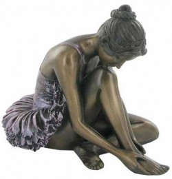 Picture of Ballerina Preparing Bronze Figurine