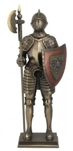 Picture of Knight Guarding with Halberd Bronze Figurine 36 cm