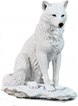 Picture of Snow Wolf Sitting Figurine
