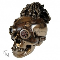 Picture of Futuristic Masked Robot Skull Bronze