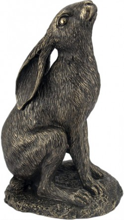 Picture of Moongazing Hare Bronze Figurine NEW