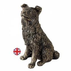 Picture of Border Collie Sitting (Bronzed) Figurine Langholm Design