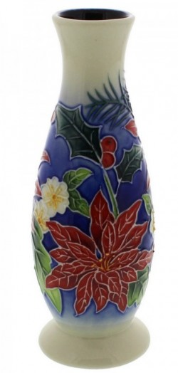 Picture of Poinsettia Pattern Vase 6 inches tall (Old Tupton Ware)