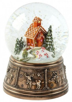 Picture of Gingerbread House Bronze Snow Globe
