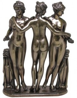 Picture of The Three Graces Bronze Statue 29 cm