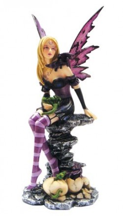 Picture of Amethyst and Hatchlings Fairy Figurine
