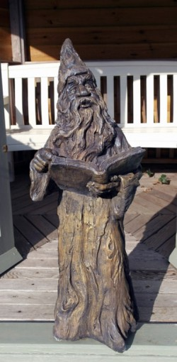 Picture of Merlin Stone Statue 90 cm Burnt Umber Finish