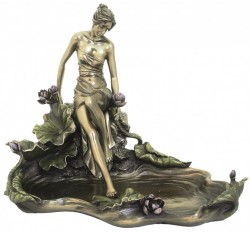 Picture of Lady by Water Decorative Dish Bronze