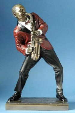Picture of Saxophone Player 2 Jazz Bronze Figurine