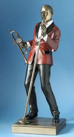 Picture of Male Singer Jazz Bronze Figurine