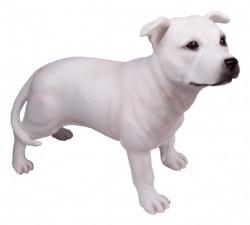 Picture of White Staffordshire Terrier Black Leonardo Collection