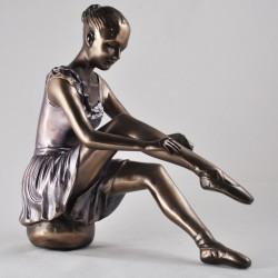 Picture of Ballerina Preparing 2 Bronze Figurine
