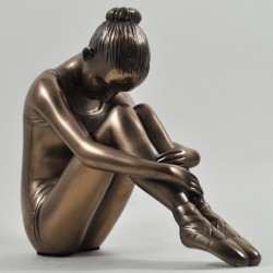 Picture of Ballerina Sitting Bronze Figurine