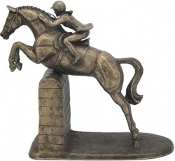 Picture of Female Show Jumper Cold Cast Bronze Sculpture by Harriet Glen