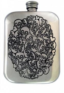 Picture of 6oz Skull Heart Cluster Pocket Flask (Gordon Robertson)