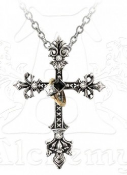 Picture of Maryam Theotokos Ring Cross Necklace